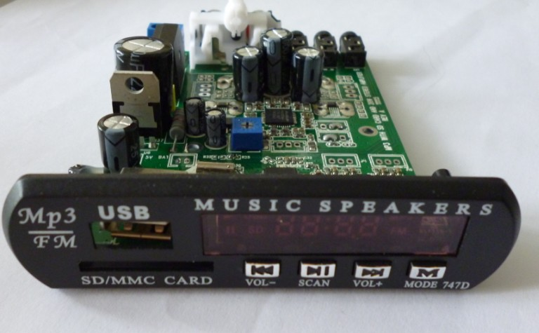 digital 20W stereo amp module with MP3 player