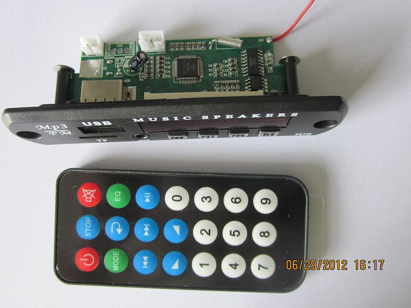 MP3 module with display
