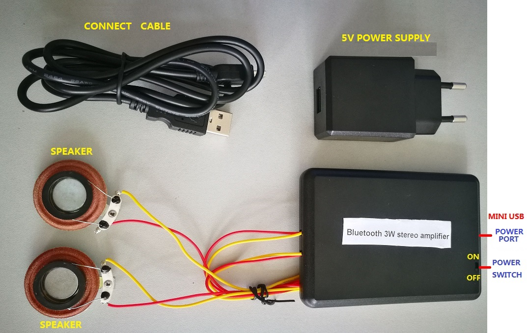 5V bluetooth system with exciter for home cabinet