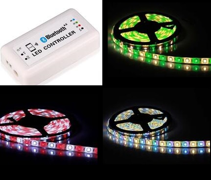 Bluetooth V4.0 RGB LED Strip Light Controller