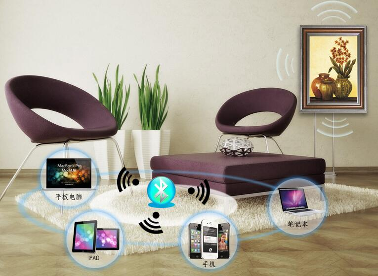 bluetooth sound system for wall picture flat speaker