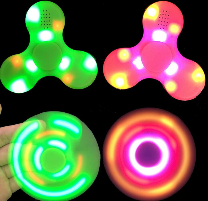 Bluetooth Speaker Hand Spinners Fingertip Gyroscope with LED light